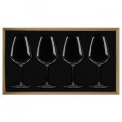 Coffret 4 verres à bordeaux...